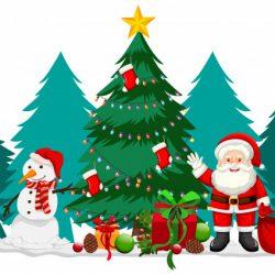 weihnachtsmotiv-mit-weihnachtsmann-und-schneemann_1308-38390